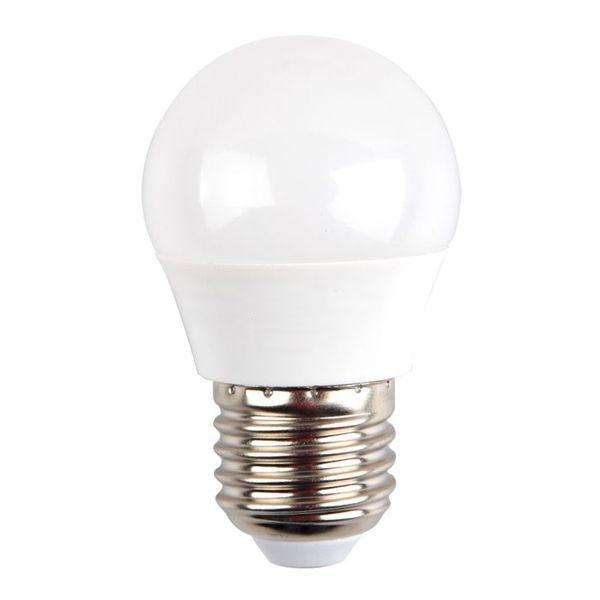 Лампа светодиодная Космос, GL45, белый свет, цоколь E27, 5WC0042478Светодиодная лампа Космос отличается низким энергопотреблением. Срок службы лампы 30000 часов, это в 30 раз дольше, чем у лампы накаливания. Устойчива к вибрациям и высоким перепадам температур. Обладает высокой механической прочностью и вибростойкостью. Характеризуется отсутствием ультрафиолетового и инфракрасного излучений. Эквивалентна лампе накаливания мощностью 60 Вт. Светит рассеянным светом как обычная лампа. Подходит для всех светильников. Номинальное напряжение: 220-240 В. Номинальная частота: 50/60 Гц. Рабочий ток: 0,04 А. Угол рассеивания: 270°. Срок службы: 30 000 ч. Стабильная работа при температуре: от 40°С до +50°С.