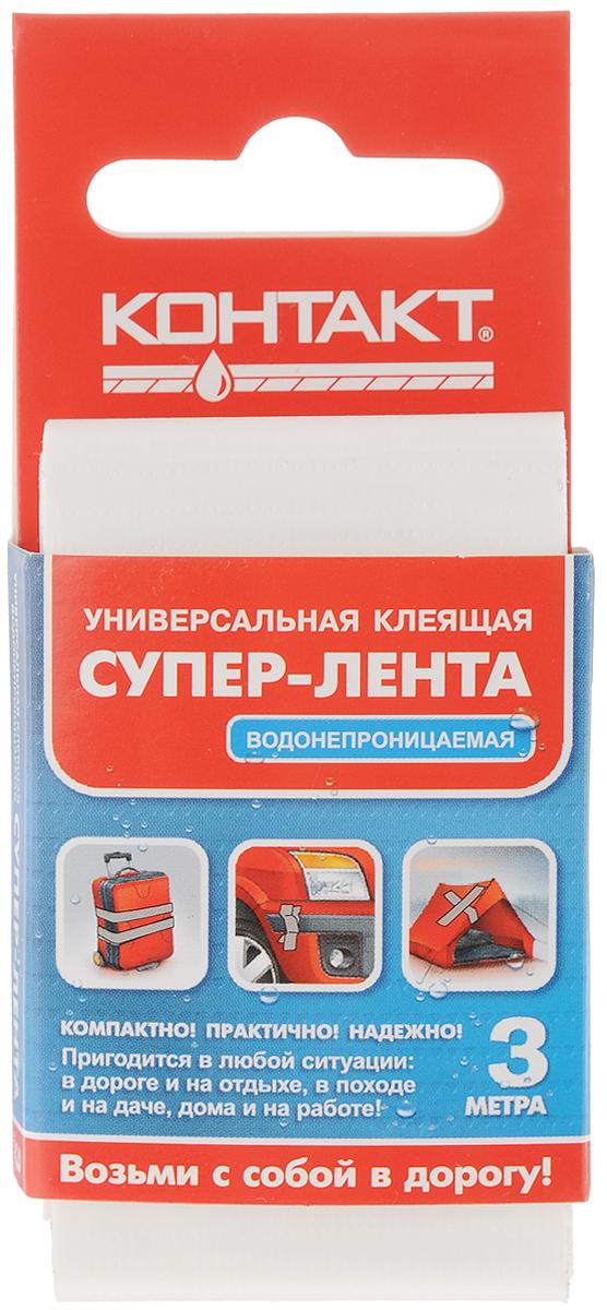 Лента клеящая Контакт, универсальная, цвет: белый, 3 м80621Трехслойная водонепроницаемая клеящая лента Контакт предназначена для герметизации, упаковки и быстрого ремонта. Используется для наружных и внутренних работ. Лента легко надрывается руками поперек, также устойчива к УФ лучам. Диапазон температур от -10 до +60°С.