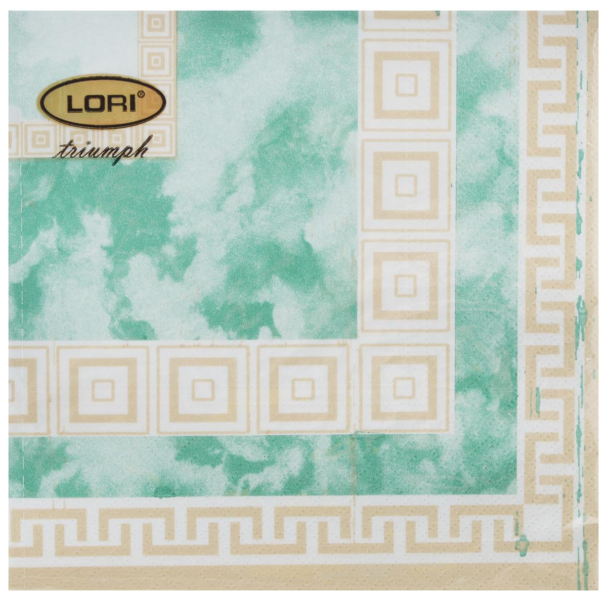 Салфетки бумажные Lori Triumph, трехслойные, цвет: зеленый, светло-коричневый, 33 х 33 см, 20 штIRK-503Декоративные трехслойные салфетки Lori Triumph выполнены из 100% целлюлозы и оформлены ярким рисунком. Изделия станут отличным дополнением любого праздничного стола. Они отличаются необычной мягкостью, прочностью и оригинальностью.Размер салфеток в развернутом виде: 33 х 33 см.