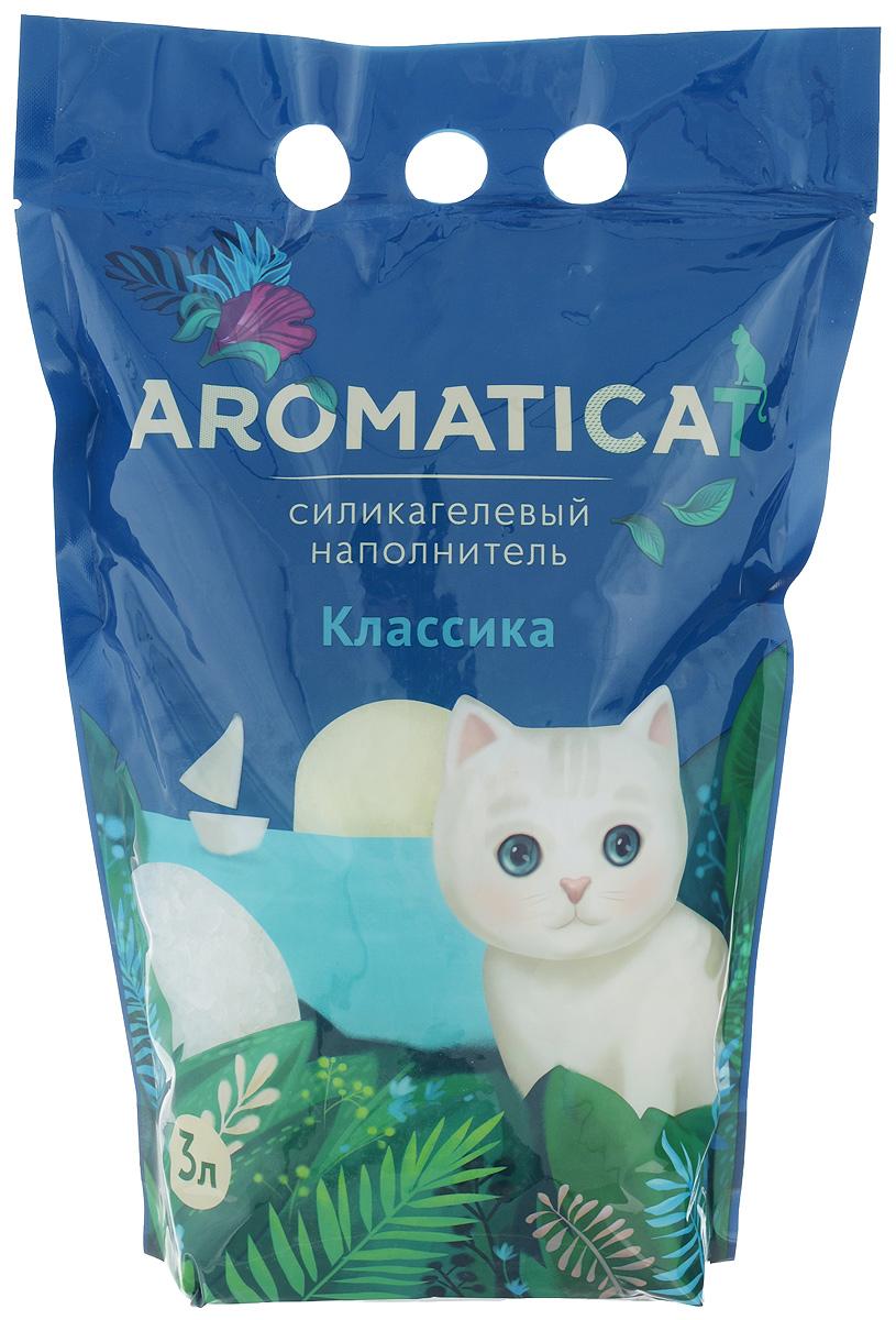 Наполнитель для кошачьего туалета Aromaticat Классический, силикагелевый, 3 л20746Силикагелевый наполнитель Aromaticat Классический представляет собой особую форму диоксида кремния, прошедшую термическую и санитарную обработку, в результате чего:- моментально и абсолютно поглощает влагу и запах, а лапки вашего питомца всегда остаются сухими и чистыми; при этом все неприятные запахи нейтрализуются,- препятствует размножению болезнетворных бактерий и организмов,- безопасен при попадании в организм; безвреден для окружающей среды,- сохраняет свежесть и чистоту в доме, не пылит,- экономичен в использовании,- безопасен для лапок - кристаллы не прилипают и не повреждают нежную кожу лапок вашего любимца, не застревают в шерсти.Товар сертифицирован.