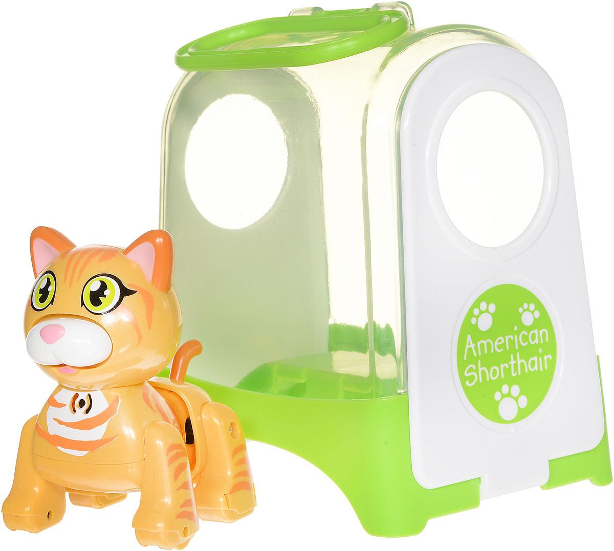 DigiFriends Интерактивная игрушка Котенок в переноске цвет желтый оранжевый