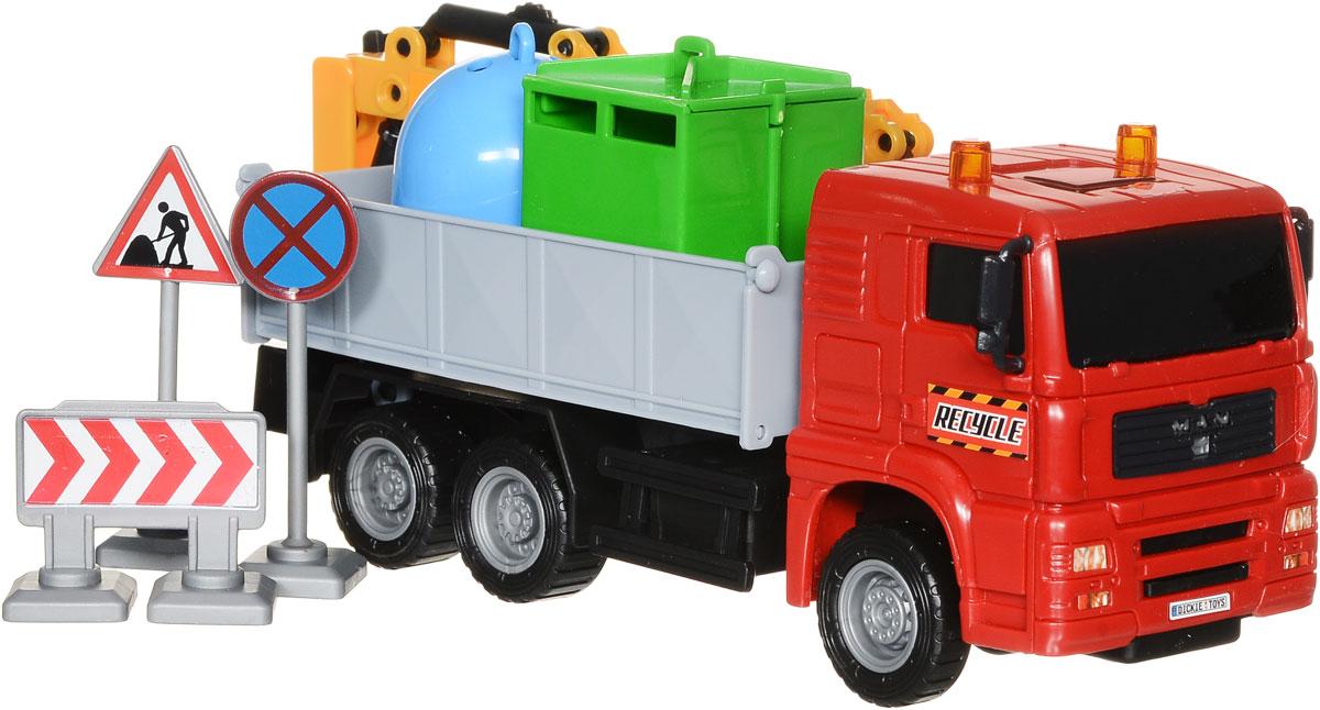Dickie Toys Автокран цвет красный dickie toys dickie toys фрикционный джип 4 х 4 hill roader красный