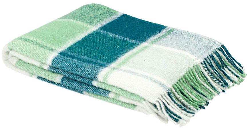 Плед Пиросмани, цвет: зеленый, белый, 170 х 200 см. 1-207-170_041-207-170_04Мягкий и приятный плед Пиросмани изготовлен из 100% новозеландской овечьей шерсти. Плед добавит комнате уюта и согреет в прохладные дни. Такое теплое украшение может стать отличным подарком друзьям и близким! Под шерстяным пледом вам никогда не станет жарко или холодно, он помогает поддерживать постоянную температуру тела. Шерсть обладает прекрасной воздухопроницаемостью, она поглощает и нейтрализует вредные вещества и славится своими целебными свойствами. Плед из шерсти станет лучшим лекарством для людей, страдающих ревматизмом, радикулитом, головными и мышечными болями, сердечно-сосудистыми заболеваниями и нарушениями кровообращения. Шерсть не электризуется. Она прочна, износостойка, долговечна. Наконец, шерсть просто приятна на ощупь, ее мягкость и фактура вызывают потрясающие тактильные ощущения!Пиросмани - коллекция пледов с кистями, уменьшенной плотности из 100% натуральной новозеландской овечьей шерсти. Характеристики:Материал: 100% новозеландская овечья шерсть. Цвет: зеленый, белый. Размер пледа: 170 см х 200 см. Размер упаковки: 50 см х 10 см х 40 см. Артикул: 1-207-170_04.