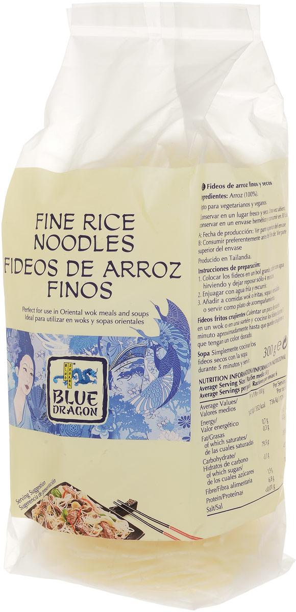 Blue Dragon Лапша рисовая тонкая, 300 г26465Тонкая, эластичная, с приятным матовым цветом рисовая лапша Blue Dragon обладает нежным вкусом. Только рисовая мука, вода и традиционная технология приготовления лапши. Последняя - главный секрет ее успеха, который позволяет лапше не разваливаться и не слипаться на сковороде и даже в супах.Хорошо сочетается с традиционными соусами и заправками азиатской кухни, а также с карри и кунжутным маслом.