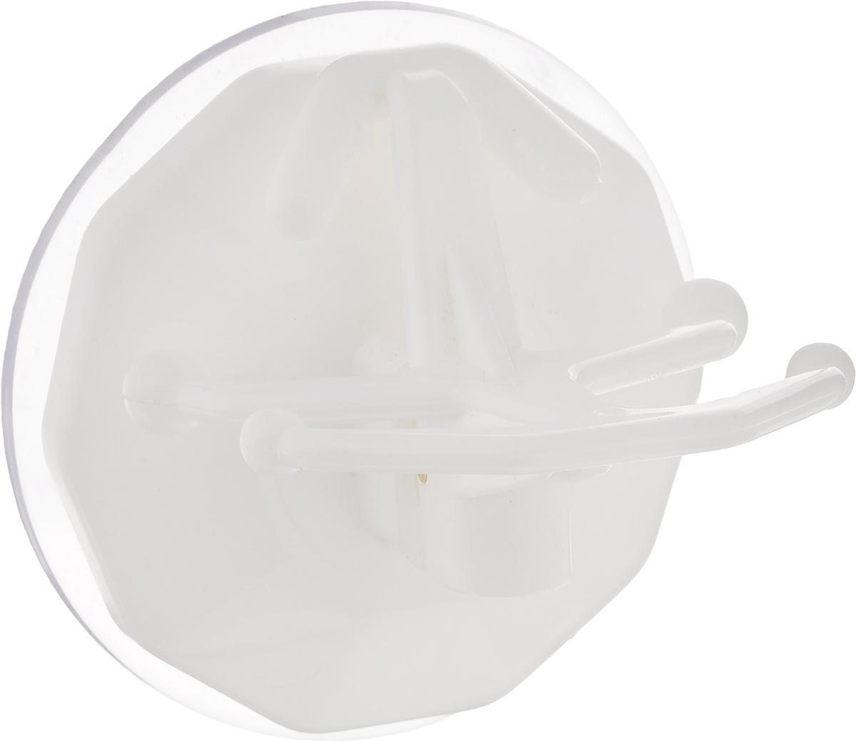 Вешалка настенная Gimi Bingo, на присоске, цвет: белый, 5 крючковU210DFВешалка настенная Gimi Bingo, выполненная из пластика, станет отличным решением для прихожей, ванной или кухни. Вешалка имеет 5 крючков, на которые вы сможете повесить ваши вещи. Прочная присоска надежно крепится к стене и не оставляет разводов и пятен. Практичная настенная вешалка поможет организовать пространство в вашем доме.Особенности вешалки:- успешно работает в интервале температур от -20°С до +60°С; - выдерживает нагрузку до 20 кг; - может служить годами, не требуя перевешивания; - без усилий снимается и перевешивается на новое место.