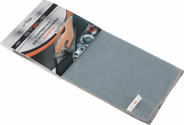 Салфетка автомобильная Stels Elastic, 350 х 400 мм96281389Проникает в самые труднодоступные места. Эффективно удаляет все виды загрязнений. Не оставляет ворсинок и разводов, не царапает поверхность, проникая в микротрещины, устраняет бактерии и микробы, впитывает жидкости больше, чем обычная ткань.