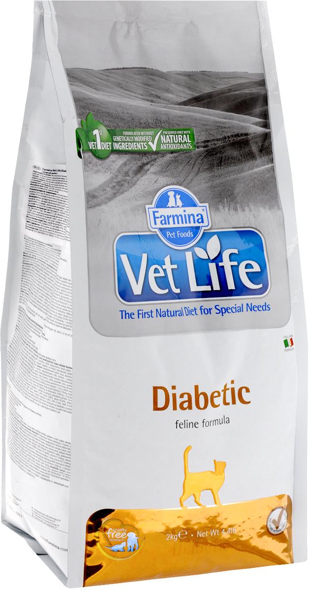 Корм сухой Farmina Vet Life для кошек с сахарным диабетом, диетический, 2 кг0120710Сухой корм Farmina Vet Life - это диетическое полнорационное и сбалансированное питание для взрослых кошек с сахарным диабетом.Низкий уровень и специально подобранные источники крахмала и сахаров, содержащиеся в диетическом питании Farmina Vet Life, снижают уровень глюкозы в крови после приема пищи.Товар сертифицирован.
