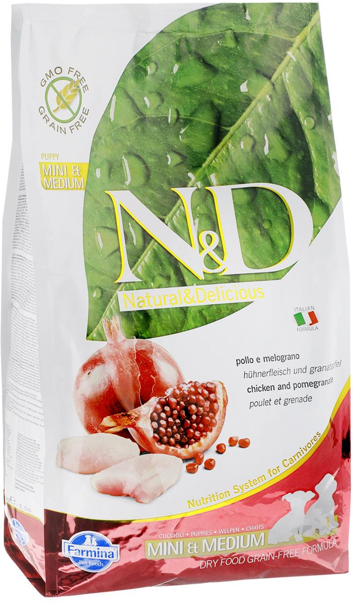 Корм сухой Farmina N&D для щенков мелких и средних пород, беззерновой, с курицей и гранатом, 2,5 кг12171996Сухой корм Farmina N&D является беззерновым и сбалансированным питанием для щенков мелких и средних пород. Изделие имеет высокое содержание витаминов и питательных веществ. Сухой корм содержит натуральные компоненты, которые необходимы для полноценного и здорового питания домашних животных.Товар сертифицирован.