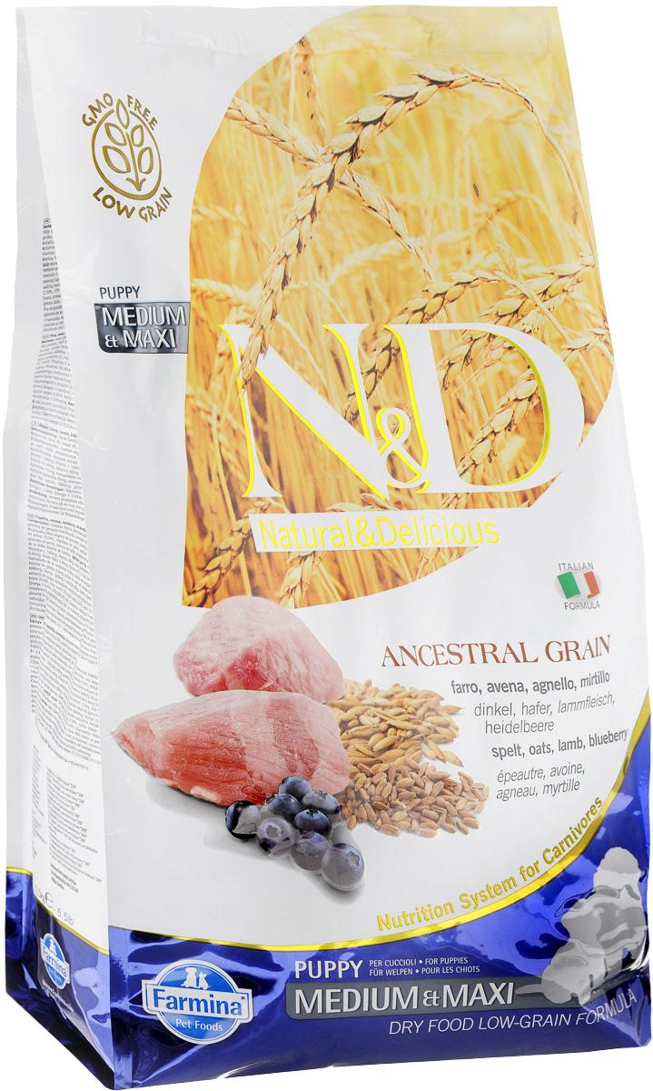 Корм сухой Farmina N&D для щенков, беременных и кормящих собак, низкозерновой, с ягненком и черникой, 2,5 кг0120710Сухой корм Farmina N&D является низкозерновым и сбалансированным питанием для щенков, беременных и кормящих собак. Изделие имеет высокое содержание витаминов и питательных веществ. Сухой корм содержит натуральные компоненты, которые необходимы для полноценного и здорового питания домашних животных. Линия продуктов Farmina N&D - это сухие корма для собак, рецептура которых построена по принципу питания плотоядных животных. Товар сертифицирован.