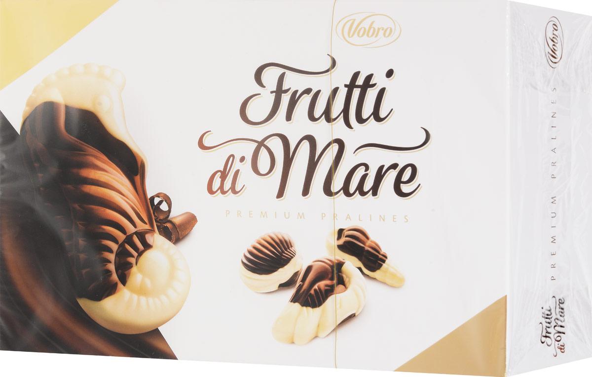Vobro Frutti di Mare набор шоколадных конфет в виде морских ракушек, 350 г0120710Уникальная форма и неповторимый вкус… Такими являются коробки конфет Vobro Frutti di Mare в виде морепродуктов. Прекрасная композиция белого и черного шоколада, и к тому же начинка 4 вкусов: какао, арахис, молочный и тоффи.