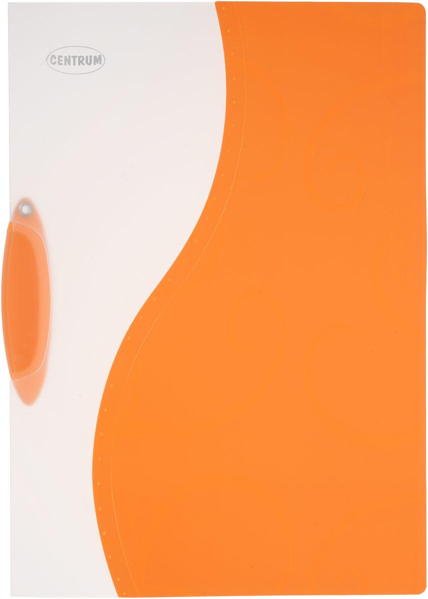 Папка с клипом Centrum, цвет: оранжевый, формат А4ПР4_10623Папка с клипом Centrum - это удобный и практичный офисный инструмент, предназначенный для хранения и транспортировки неперфорированных рабочих бумаг и документов формата А4. Она изготовлена из прочного пластика и оснащена боковым поворотным клипом, позволяющим фиксировать неперфорированные листы. Папка - это незаменимый атрибут для студента, школьника, офисного работника. Такая папка практична в использовании и надежно сохранит ваши документы и сбережет их от повреждений, пыли и влаги.
