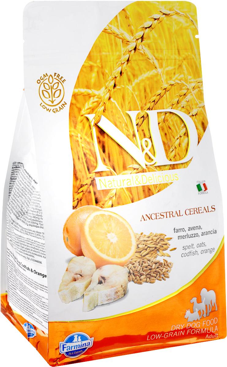 Корм сухой для взрослых собак Farmina N&D, низкозерновой, с треской и апельсином, 800 г0120710Сухой корм Farmina N&D является низкозерновым и сбалансированным питанием для взрослых собак всех пород. Изделие имеет высокое содержание витаминов и питательных веществ. Сухой корм содержит натуральные компоненты, которые необходимы для полноценного и здорового питания домашних животных.Товар сертифицирован.