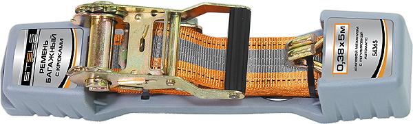 Ремень для крепления багажа Stels, 10 м х 38 мм, с крюками, храповый механизм AutomaticUdd500leРемень багажный из синтетического материала с крюками на концах. Храповой механизм обеспечивает легкость натяжения ремня. Применяется для закрепления предметов в открытых багажниках, монтируемых на крышах легковых автомобилей.