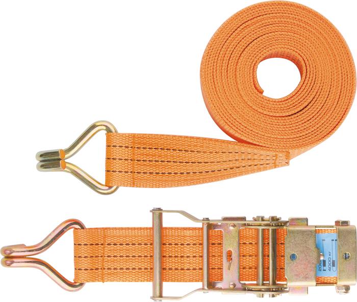 Ремень для крепления багажа Stels, с крюками, с храповым механизмом, 8 м х 5 смTEMP-05Ремень для крепления багажа Stels выполнен из синтетического материала с крюками на концах. Храповой механизм обеспечивает легкость натяжения ремня. Данный ремень применяется для закрепления предметов в решетчатых поддонах, прежде всего в открытых багажниках.Ширина ленты: 5 см.Длина ленты: 8 м.