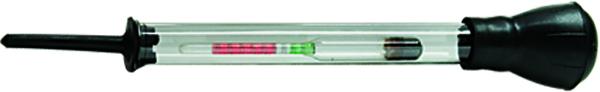 Ареометр для электролита SpartaВетерок 2ГФАреометр состоит из стеклянной колбы с поплавками различной степени плавучести. Предназначен для измерения плотности электролита в автомобильных аккумуляторах.