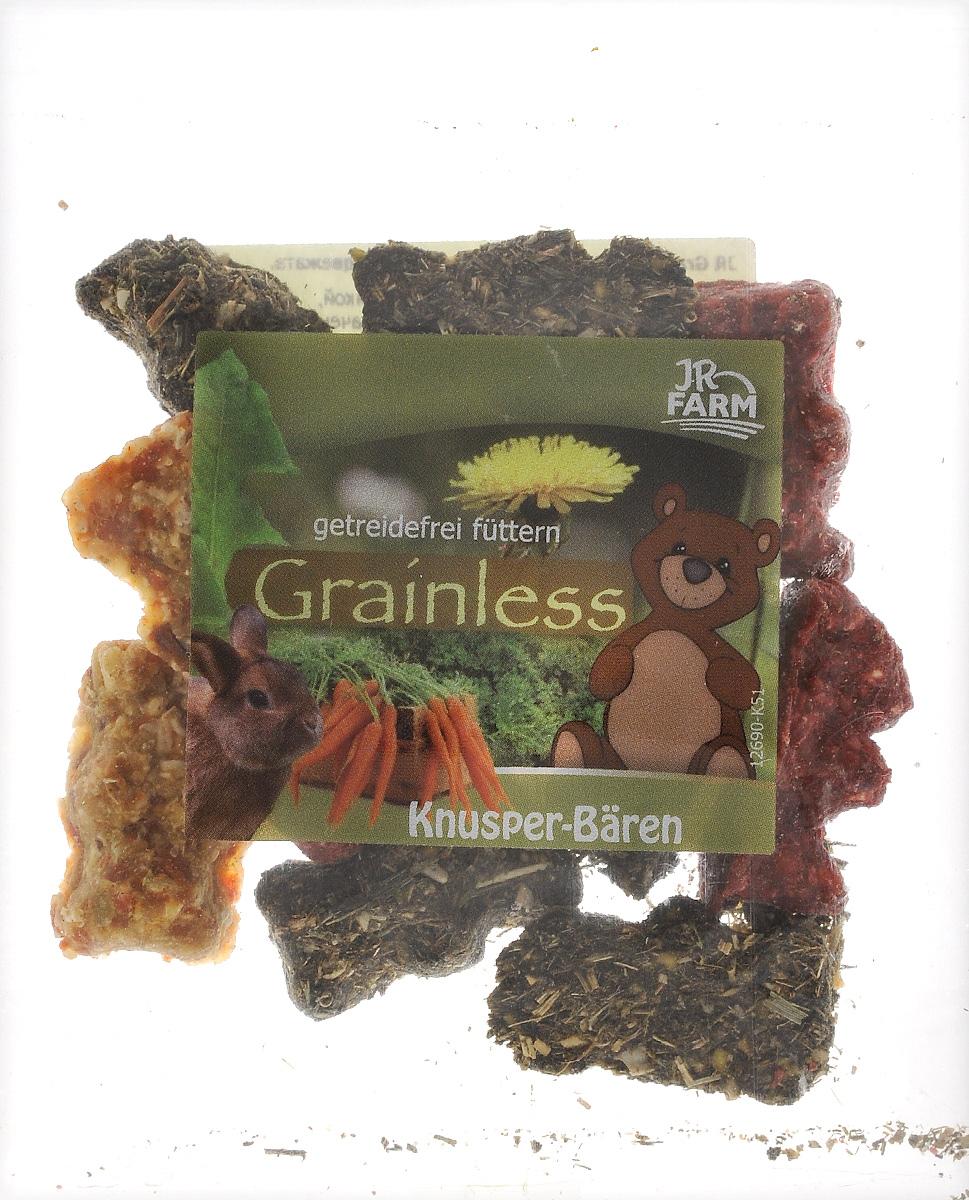 Лакомство для грызунов JR Farm Медвежата хрустящие, 30 г. 371240120710Лакомство для грызунов JR Farm Медвежата хрустящие с морковью, клубникой, свеклой и шпинатом. Снэк предназначен в качестве закуски. Дополнительный корм для всех видов грызунов.Состав: злаки, овощи (морковь 26,8%, шпинат 0,6%, свекла 0,6%), орехи, яйца и яичные продукты, фрукты (клубника 0,3%). Товар сертифицирован.