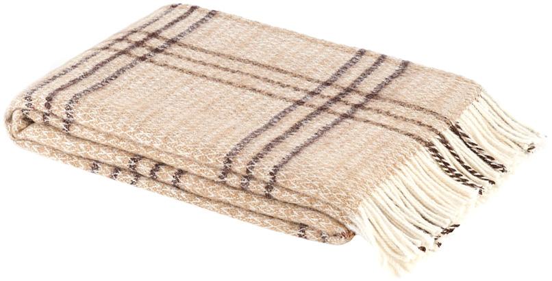 Плед Британия, цвет: бежевый, коричневый, 140 см х 200 см. 1-261-140_0168/5/4Теплый пушистый плед Британия, выполненный из натуральной новозеландской овечьей шерсти, добавит комнате уюта и согреет в прохладные дни. Удобный размер этого качественного пледа позволит использовать его и как одеяло, и как покрывало для кресла или софы. Плед упакован в пластиковую сумку-чехол на застежке-молнии, а прочные текстильные ручки делают чехол удобным для переноски.Такое теплое украшение может стать отличным подарком друзьям и близким! Под шерстяным пледом вам никогда не станет жарко или холодно, он помогает поддерживать постоянную температуру тела. Шерсть обладает прекрасной воздухопроницаемостью, она поглощает и нейтрализует вредные вещества и славится своими целебными свойствами. Плед из шерсти станет лучшим лекарством для людей, страдающих ревматизмом, радикулитом, головными и мышечными болями, сердечно-сосудистыми заболеваниями и нарушениями кровообращения. Шерсть не электризуется. Она прочна, износостойка, долговечна. Наконец, шерсть просто приятна на ощупь, ее мягкость и фактура вызывают потрясающие тактильные ощущения! Характеристики: Материал: 100% новозеландская овечья шерсть. Цвет: бежевый, коричневый. Размер: 140 см х 200 см. Размер упаковки: 50 см х 35 см х 10 см. Артикул: 1-261-140.