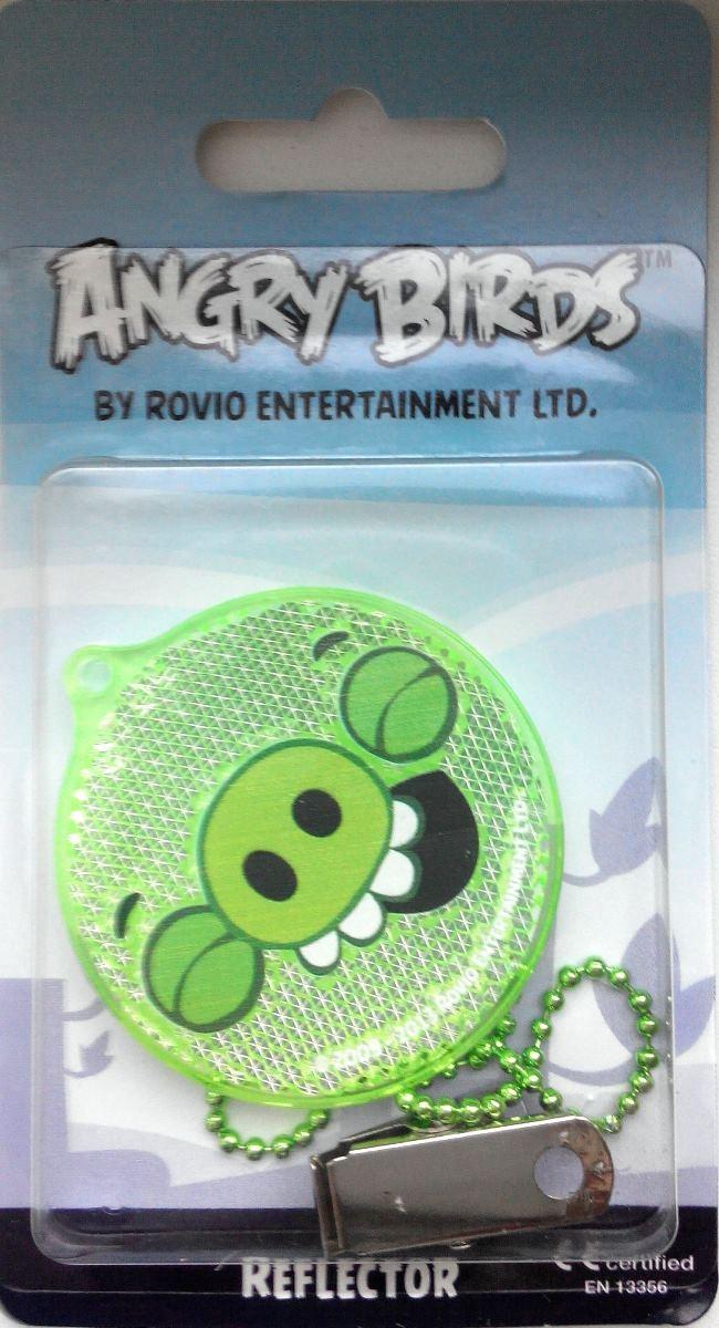 Светоотражатель пешеходный Coreflect Angry Birds Pig Happy, цвет: зеленыйS02301024Пешеходный светоотражатель - это серьезное средство безопасности на дороге. Использование светоотражателей позволяет в десятки раз сократить количество ДТП с участием пешеходов в темное время суток. Светоотражатель крепится на одежду и обладает способностью к направленному отражению светового потока. Благодаря такому отражению, водитель может вовремя заметить пешехода в темноте, даже если он стоит или двигается по обочине. А значит, он успеет среагировать и избежит возможного столкновения. С 1 июля 2015 года ношение светоотражателей вне населенных пунктов является обязательным для пешеходов! Мы рекомендуем носить их и в городе! Для безопасности и сохранения жизни!