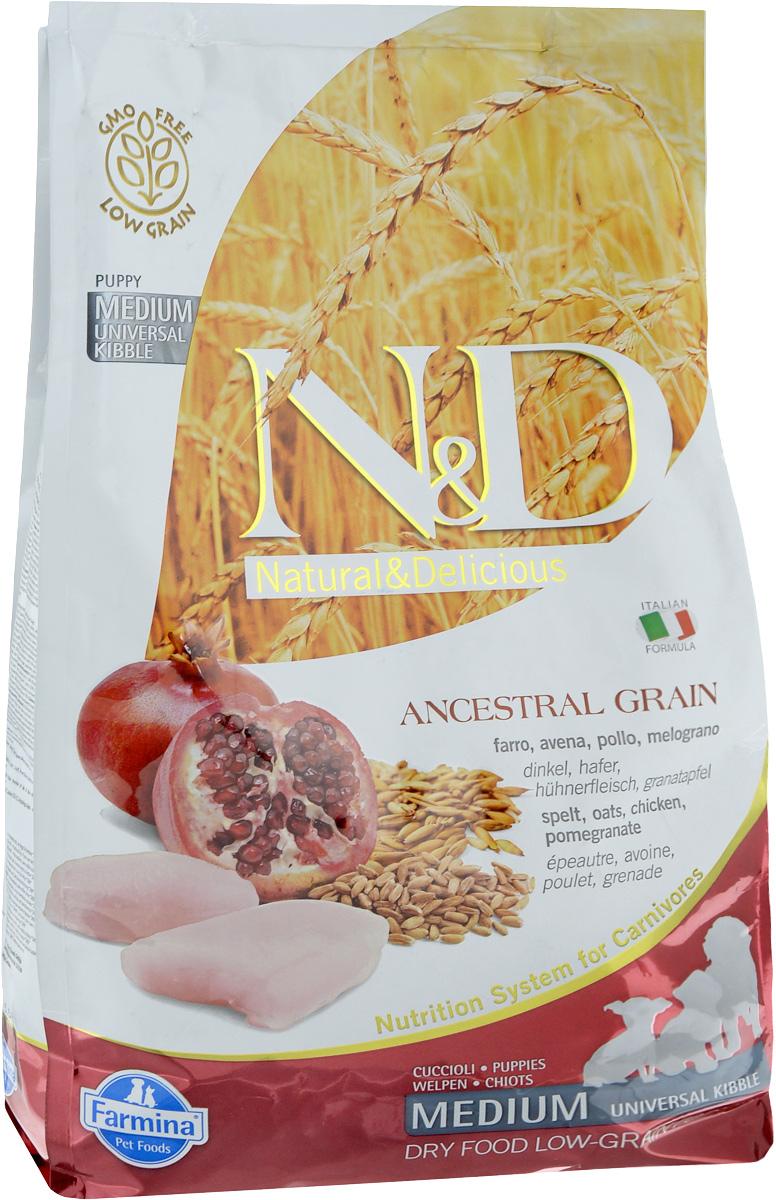 Корм сухой Farmina N&D для щенков всех пород собак, беременных и кормящих собак, низкозерновой, с курицей и гранатом, 2,5 кг21892Сухой корм Farmina N&D является низкозерновым и сбалансированным питанием для щенков всех пород, также подходит для беременных и кормящих собак. Изделие имеет высокое содержание витаминов и питательных веществ. Сухой корм содержит натуральные компоненты, которые необходимы для полноценного и здорового питания домашних животных.Товар сертифицирован.