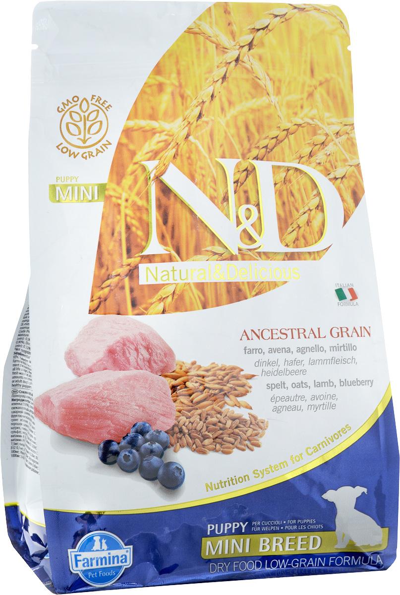 Корм сухой Farmina N&D для щенков мелких пород, низкозерновой, с ягненком и черникой, 800 г0120710Сухой корм Farmina N&D является низкозерновым и сбалансированным питанием для щенков мелких пород, также подходит для беременных и кормящих собак. Изделие имеет высокое содержание витаминов и питательных веществ. Сухой корм содержит натуральные компоненты, которые необходимы для полноценного и здорового питания домашних животных.Товар сертифицирован.