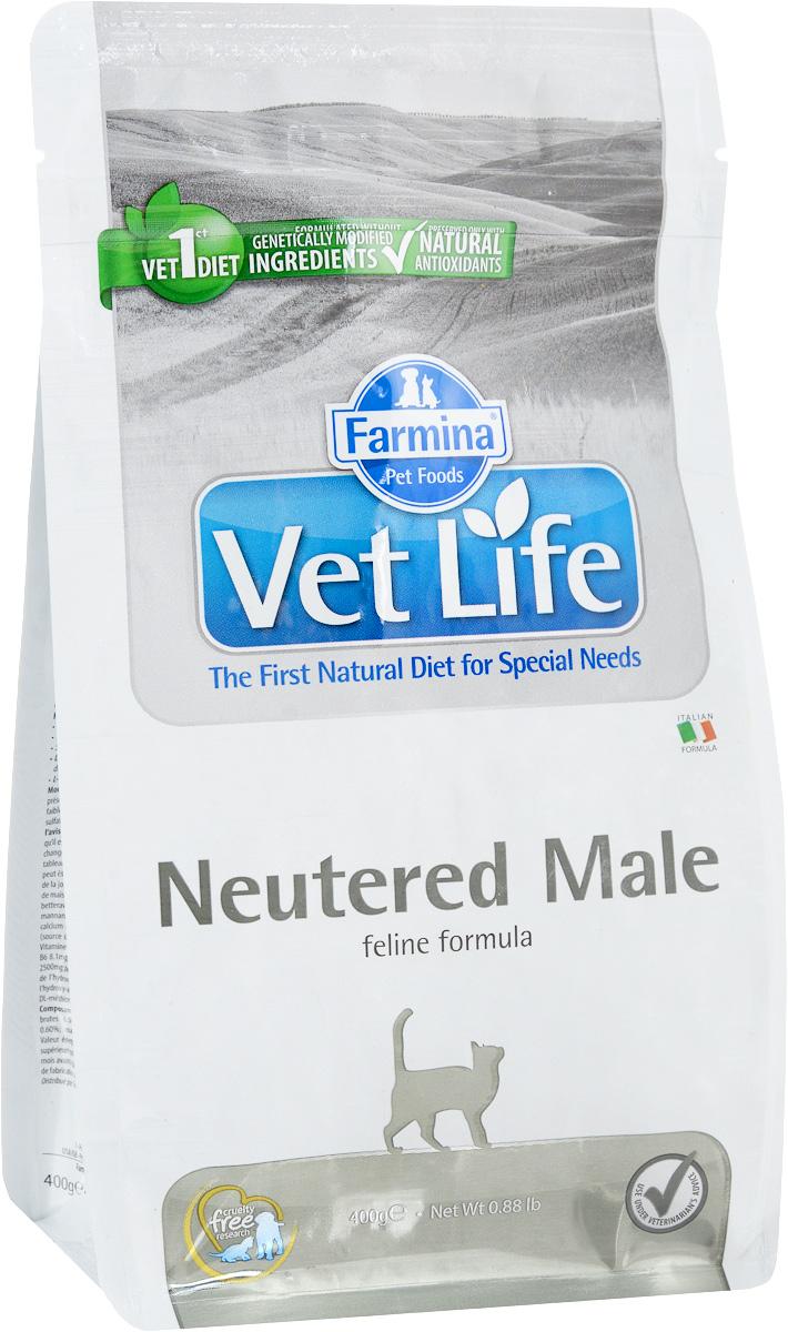 Корм сухой Farmina Vet Life для взрослых кастрированных котов, диетический, 400 г0120710Сухой корм Farmina Vet Life - это диетическое полнорационное и сбалансированное питание для взрослых кастрированных котов.Сниженная энергетическая плотность продукта ограничивает риск развития ожирения. Высокая биологическая ценность белков и L-карнитин способствуют поддержанию мышечной массы и использованию запасов жиров. Низкое содержание углеводов снижает вероятность развития диабета. Низкое содержание фосфора и магния, а также сульфат кальция снижают риск развития мочекаменной болезни.Товар сертифицирован.