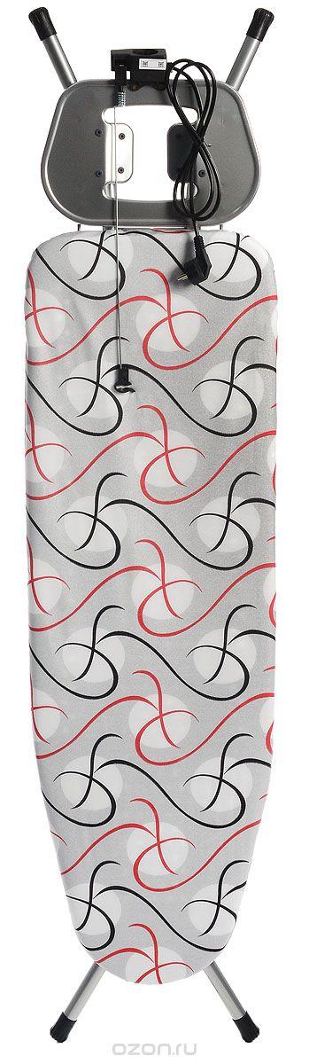 """Доска гладильная Hausmann """"Complete"""", цвет: серый, белый, красный, 120 х 38 см"""