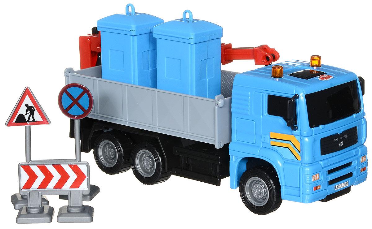 Dickie Toys Автокран цвет синий dickie toys dickie toys фрикционный джип 4 х 4 hill roader красный