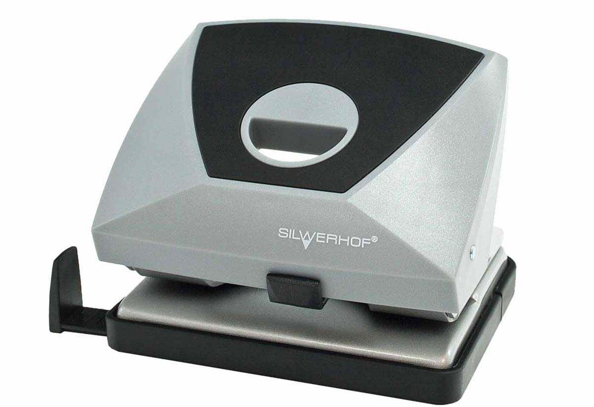 Silwerhof Дырокол Diamond на 20 листов цвет серый черныйFS-00897Надежный цельнометаллический дырокол Silwerhof Diamond - это незаменимый офисный инструмент для перфорации бумаги и картона.Пробивной механизм выполнен из легированной стали. Дырокол предназначен для одновременной перфорации до 20 листов бумаги 80г/м. Корпус дырокола оснащен удобным эргономичным отверстием. Дырокол имеет выдвижную линейку с разметкой для документов различных форматов, а также съемный резервуар для обрезков бумаги,встроенный в основание.Имеется фиксатор для хранения дырокола в закрытом состоянии.