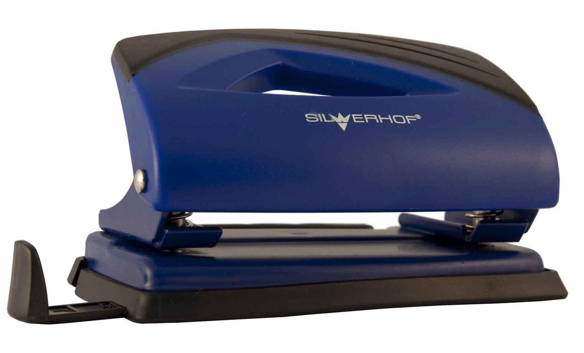 Silwerhof Дырокол Shark на 12 листов цвет синийAC-2233_серыйНадежный цельнометаллический дырокол Silwerhof Shark - это незаменимый офисный инструмент для перфорации бумаги и картона.Пробивной механизм выполнен из легированной стали, нажимная часть - из ударопрочного пластика. Дырокол предназначен для одновременной перфорации до 12 листов бумаги 80г/м. Корпус дырокола оснащен эргономичной вставкой. Дырокол имеет выдвижную линейку с разметкой для документов различных форматов, а также пластиковый поддон для сбора обрезков бумаги с функцией частичного открывания.