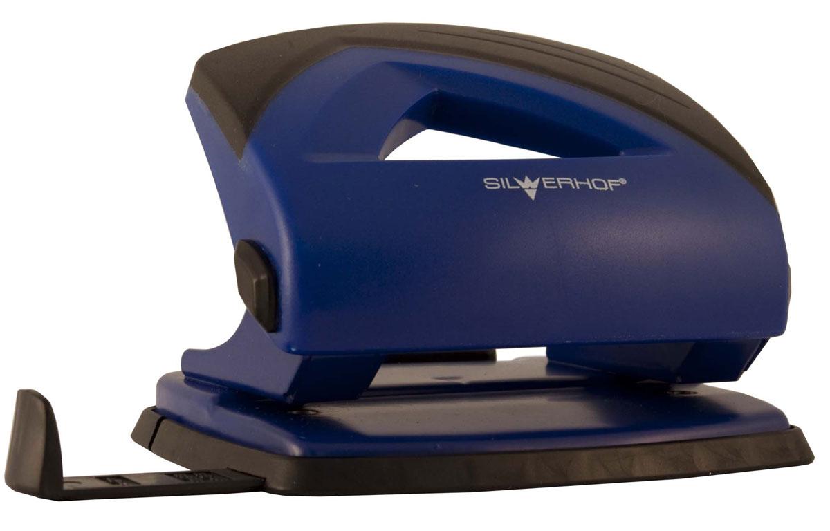 Silwerhof Дырокол Shark на 20 листов цвет синийFS-36054Надежный дырокол Silwerhof Shark - это незаменимый офисный инструмент для перфорации бумаги и картона.Металлический дырокол с нескользящим основанием предназначен для одновременной перфорации до 20 листов бумаги. Для выравнивания листов предусмотрена выдвижная форматная линейка.У дырокола пробивной механизм из легированной стали, нажимная часть из ударопрочного пластика и пластиковый поддон для сбора конфетти с функцией частичного открывания.
