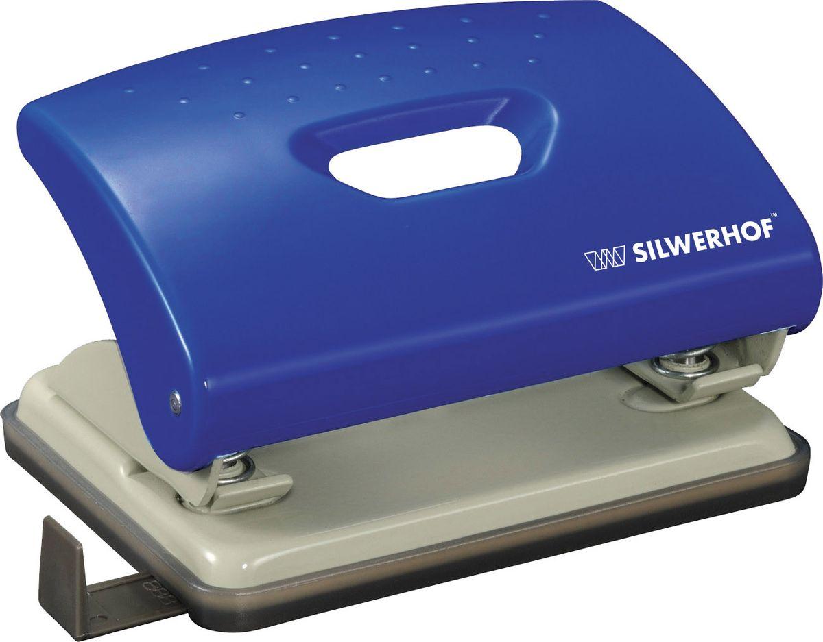 Silwerhof Дырокол Primer на 16 листов цвет синийFS-36052Надежный цельнометаллический дырокол Silwerhof Primer - это незаменимый офисный инструмент для перфорации бумаги и картона.Пробивной механизм выполнен из легированной стали, нажимная часть - из ударопрочного пластика. Дырокол предназначен для одновременной перфорации до 16 листов бумаги 80г/м. Корпус дырокола оснащен эргономичной вставкой. Дырокол имеет выдвижную линейку с разметкой для документов различных форматов, а также пластиковый поддон для сбора обрезков бумаги с функцией частичного открывания.