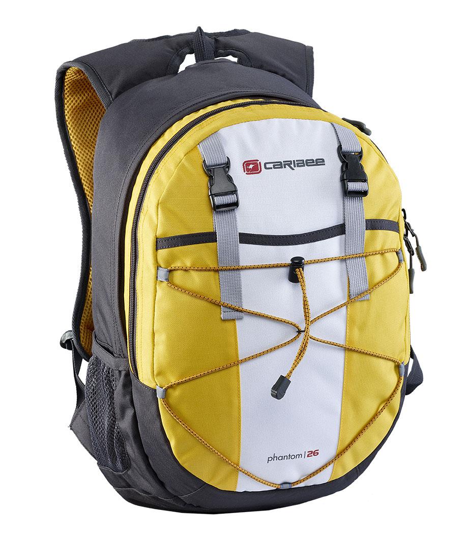 Рюкзак городской Caribee Phantom, цвет: желтый, 24 лRU-719-1/2Отличный рюкзак Caribee Phantom для ежедневного использования, компактный и функциональный.Снабжен одним внутренним отделением и передним карманом на молнии, система резинок на фронтальной части рюкзака позволяет плотнее зафиксировать его содержимое, если рюкзак используется во время занятий спортом (бег, велосипедные прогулки и т.д.).Регулируемый нагрудный ремень обеспечивает плотную посадку рюкзака на спине.Совместимость с питьевой системой позволяет значительно облегчить жизнь туристам и спортсменам, которые могут пить воду посредством длинной силиконовой трубки, не занимая рук флягами и бутылками.Наряду с этим рюкзак вмещает документы формата А4 и имеет встроенный органайзер, поэтому может быть использовать для учебы или работы.Объем: 26 л.Размер: 46 x 28 x 18 см.