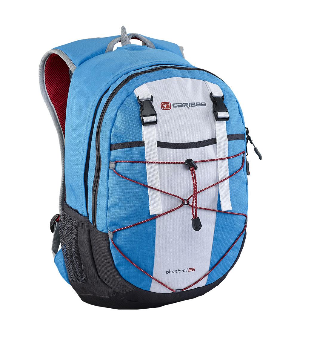 Рюкзак городской Caribee Phantom, цвет: синий, 24 л61022Отличный рюкзак Caribee Phantom для ежедневного использования, компактный и функциональный.Снабжен одним внутренним отделением и передним карманом на молнии, система резинок на фронтальной части рюкзака позволяет плотнее зафиксировать его содержимое, если рюкзак используется во время занятий спортом (бег, велосипедные прогулки и т.д.).Регулируемый нагрудный ремень обеспечивает плотную посадку рюкзака на спине.Совместимость с питьевой системой позволяет значительно облегчить жизнь туристам и спортсменам, которые могут пить воду посредством длинной силиконовой трубки, не занимая рук флягами и бутылками.Наряду с этим рюкзак вмещает документы формата А4 и имеет встроенный органайзер, поэтому может быть использовать для учебы или работы.Объем: 26 л.Размер: 46 x 28 x 18 см.