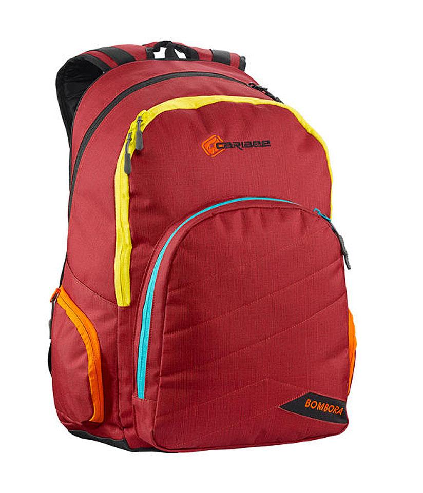 Рюкзак городской Caribee Bombora, цвет: красный, 32 лRivaCase 8460 blackРюкзак отлично подойдет людям, активно занимающимся спортом после учебы или работыВ рюкзаке находятся два вместительных отделения (А4) и большой фронтальный карман.Отличительная особенность рюкзака Bombora – наличие заднего непромокаемого отделения для укладки мокрой одежды и вещей. Будучи выполненным из брезентовой ткани, оно отлично удерживающей влагу, поэтому вы можете укладывать в него спортивную форму после тренировок в спортивном зале или бассейне, и ваша спина, так же как и остальные отделения останутся сухими.Удобные прочные S-образные лямки Action Extreme.Боковые карманы на молнии для мелочей.Органайзер.Объем: 32л Размер: 46х32х23см