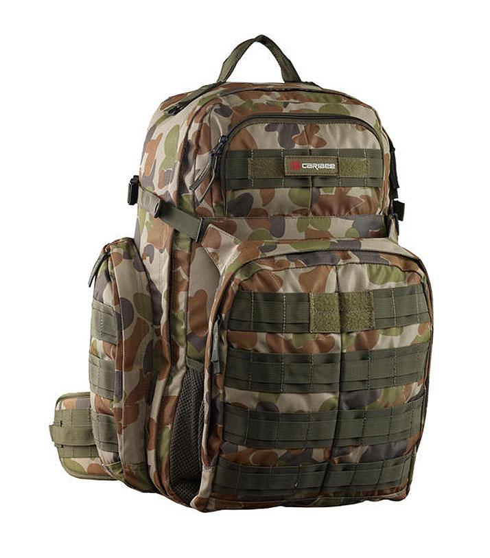 Рюкзак туристический Caribee OpS Pack, цвет: коричневый, 50 л212300Практичный камуфляжный рюкзак Caribee OpS Pack высокой прочности. Анатомическая спинка с мягкими, упругими подушечками для большего комфорта. Набедренные ремни для разгрузки спины и переноса веса на бедра. Помимо большого внутреннего отделения в рюкзаке предусмотрено несколько дополнительных карманов для хранения мелочей. Внутри есть карман для Camelbag (сумка пластиковая для воды) с выводом ее трубки наружу, чтобы можно было пить, не занимая руки. Петли Molle для протягивания шнура или навешивания подсумков. Место для контактной информации в случае утери рюкзака. Передний карман с органайзером. Объем: 50 л. Размер: 58 х 33 х 30 см.