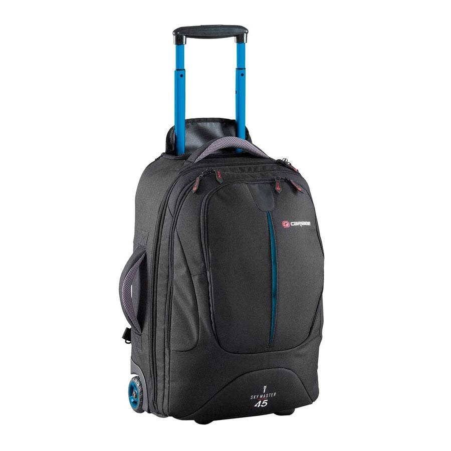 Рюкзак на колесах Caribee Sky Master, цвет: черный, 45 лDRF-F367Sky Master предоставляет вам выбор – нести рюкзак или катить его по земле. Рюкзак очень легкий и оборудован скрытой системой анатомических лямок с мягкой подушкой, бедренном ремнем, поясничной поддержкой, отстегивающимися верхним и нижним отделами, что делает их использование сплошным удовольствием. Алюминиевая выдвигающаяся ручка и большие колеса позволяют легко преодолевать любые дороги. Эти рюкзаки также имеют отстегивающийся небольшой рюкзак, расположенный на лицевой части. Это означает, что по приезде на место вам не понадобится таскать повсюду весь рюкзак целиком. Чтобы помочь разложить вещи во время путешествия, рюкзак оборудован длинной молнией и отстегивающимся отделом для обуви. Таким образом, вы легко сможете достать вещи из любого места рюкзака, а ваша обувь не испачкает одежду. Закрывающийся на молнию корпус, набедренные ремни с мягкой защитой, множество внутренних карманов и фиксирующие ремни, защищающие вашу одежду, делают Sky Master надежным и незаменимым в путешествиях.Можно брать в салон самолета - одобрен внутренними стандартами авиалиний (высота 115 см). Скрытые мягкие наплечные ремни. Внешние колеса и две пластиковые подставки для максимальной устойчивости. Выдвигающаяся алюминиевая ручка с кнопкой, 2 положения, может быть полностью убрана в корпус и закрыта сверху на молнию. Три отделения. В основном отделении – фиксирующие ремни для одежды, два маленьких и один большой сетчатые карманы на молнии. Среднее отделение с сетчатым карманом. Переднее отделение с органайзером и мягким карманом для телефона. Две мягкие ручки для переноса в руках в любом удобном для вас положении.Прочный, немаркий водоотталкивающий материал.Объем: 45 л.Размер: 52 х 34 х 28 см.