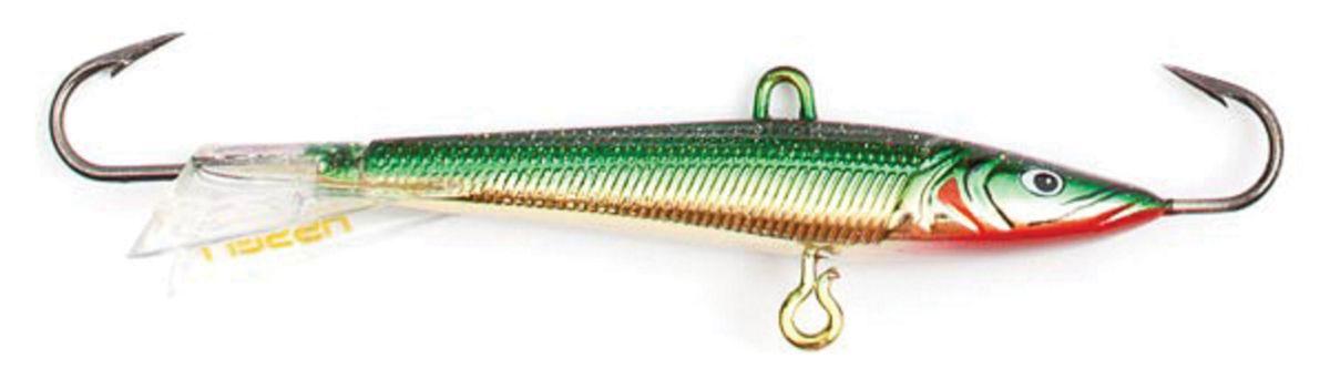 Балансир Asseri, цвет: зеленый, серебристый, красный, длина 3 см, вес 2 г. 513-03008509-P3001Балансир Asseri - это приманка, предназначенная для ловли в отвес. Основным и самым важным отличием балансиров от зимних блесен является способность играть в горизонтальной плоскости. Такая игра имитирует естественные движения мелкой рыбы, которые меньше настораживают хищника. С каждым годом приманки заслуженно занимают место в арсенале любителей зимней ловли хищника. Качественный и стильный балансир Asseri изготовлен по последним новейшим технологиям.