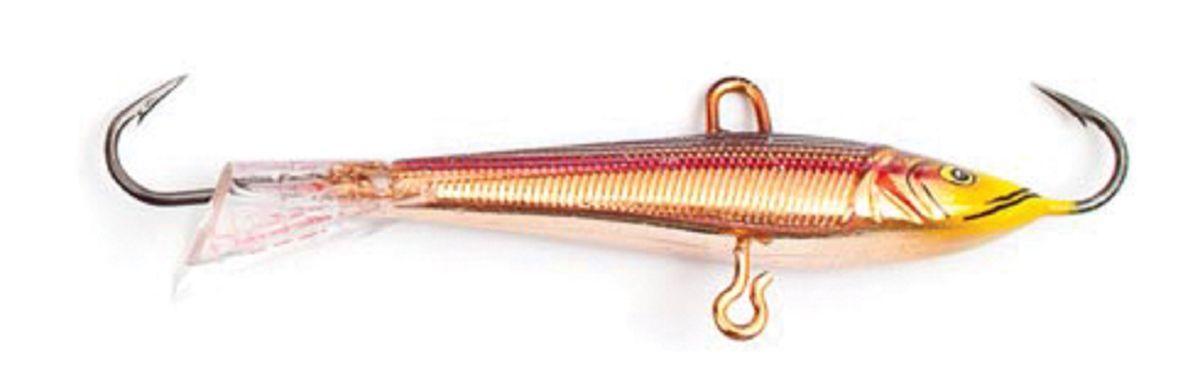 Балансир Asseri, цвет: красный, золотой, желтый, длина 5 см, вес 5 г. 513-0500359400Балансир Asseri - это приманка, предназначенная для ловли в отвес. Основным и самым важным отличием балансиров от зимних блесен является способность играть в горизонтальной плоскости. Такая игра имитирует естественные движения мелкой рыбы, которые меньше настораживают хищника. С каждым годом приманки заслуженно занимают место в арсенале любителей зимней ловли хищника. Качественный и стильный балансир Asseri изготовлен по последним новейшим технологиям.