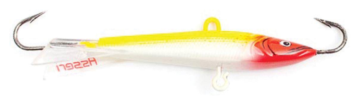 Балансир Asseri, цвет: желтый, белый, красный, длина 5 см, вес 5 г. 513-05005 балансир asseri цвет красный золотой желтый длина 4 см вес 3 г 513 04003