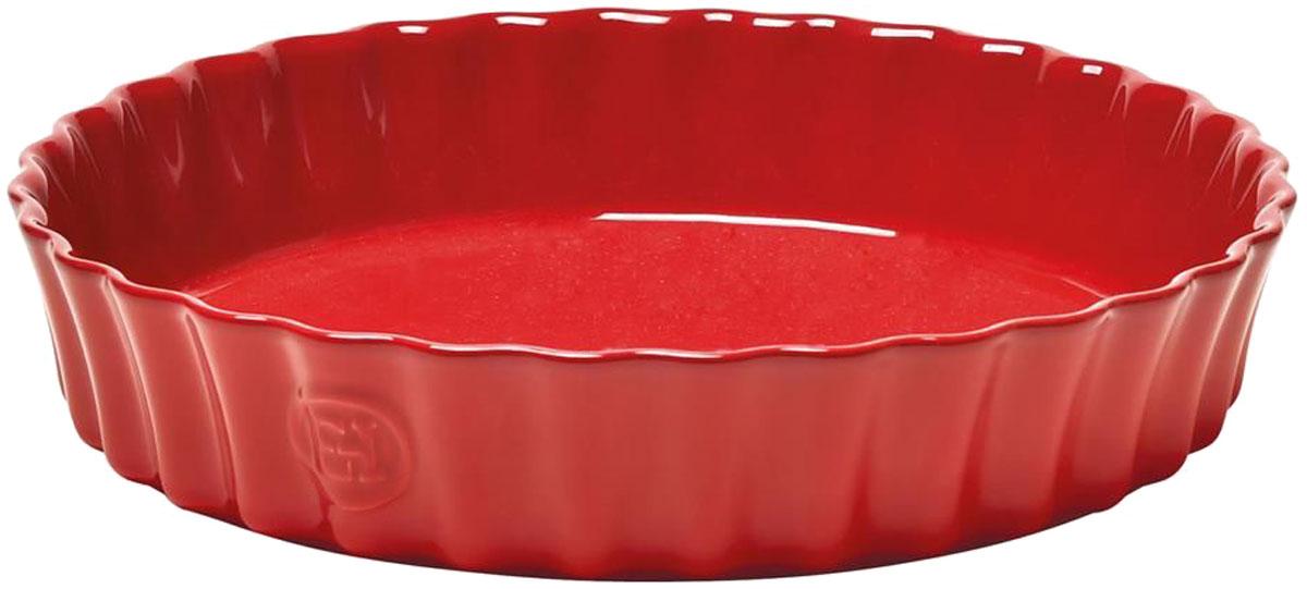 Форма для выпечки Emile Henry Киш II, цвет: гранатFS-91909Только для приготовления в духовке. Специальная форма 28 см Emile Henry для киша или клафути.Клафути - особый французский десерт, нежно тающий во рту, должен готовиться медленно и пропекаться равномерно. Эта керамическая форма незаменима для его приготовления. А порционный размер формы, прекрасно сохраняющий температуру, удобен для подачи блюда прямо на стол.
