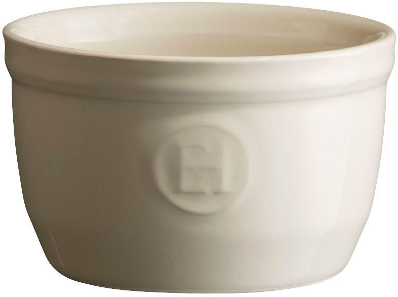 Рамекин Emile Henry, цвет: кремовый, диаметр 9 см21009Порционная форма рамекин Emile Henry предназначена как для готовки, так и для сервировки отдельных порций. Идеально подходит для кухни в загородном доме. Высокопрочная керамика (HR ceramic) великолепно распределяет и сохраняет тепло, что и требуется для приготовления помадок, гратенов, рассыпчатых и открытых пирогов. Форма не боится перепадов температур, и ее можно ставить в духовку сразу после того, как она была вынута из морозильной камеры. Покрытие формы устойчиво к появлению сколов и царапин, а его цвет остается ярким даже после многократного использования в посудомоечной машине.Форма диаметром 9 см идеально подходит для небольших десертов. Например, для густых десертов, которые требуют специфичного размера порции, как фондан из темного шоколада, пудинги или крем-карамель.
