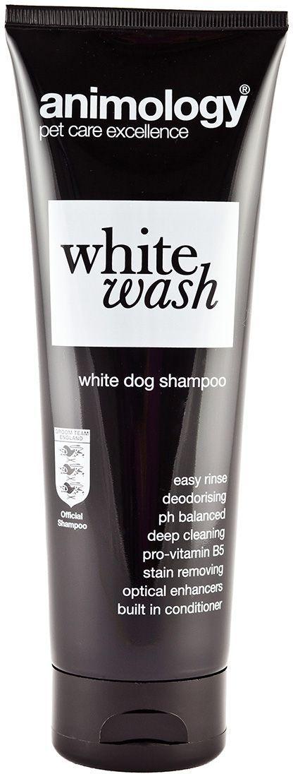 Шампунь концентрированный Animology White Wash, для белой шерсти, 250 мл0120710Концентрированный шампунь Animology White Wash (Уайт Уош) для всех типов белой и серебристой шерсти. Его формула, помогает добиться безукоризненно белого цвета. Усиливает яркость и насыщенность цвета. Предотвращает и восстанавливает тусклость цвета шерсти. Не сушит кожу и не раздражает кожу собаки, придаёт шерсти Вашего любимца приятный аромат и шелковистый блеск белой шерсти. Сбалансирован по рH, слабо пенится с приятным ароматом свежести.Подходит для ежедневного использования для собак с белой и серебристой шерстью.Можно использовать с 6-месячного возраста.Не препятствует действию антипаразитных препаратов длительного действия.Этот шампунь изготовлен с использованием новой технологии 'EASY RINSE' (что дословно переводится как лёгкое смывание). Эта технология сводит к минимуму время мытья животного, содержание Кондиционера и Про-Витамина В5 улучшает здоровье, эластичность и состояние шерсти животногоAnimology White Wash придаст Вашей собаки приятный аромат чистоты и ослепительно белый цвет шерсти. Собака будет приятно пахнуть, белая шерсть будет БЕЛОЙ, а серебристая - СЕРЕБРИСТОЙ.Глубокое очищениеpH сбалансированНе смывает естественный жировой слойДля белой и серебристой шерстиВосстанавливаетяркость и насыщенность белого цветаДезодорируетСодержит кондиционерСодержит про-витамин B5Технология easy rinse (лёгкое смывание)Розничная упаковка: Тюбик 250 млОптовая упаковка: Канистра 5л.Инструкция по применениюРазведите шампунь с водой (например, в тазике) в пропорции 1 часть шампуня к 15 частям воды.Намочите собаку тёплой водой, нанесите разбавленный шампунь на тело животного массирующими движениями рук, для лучшего результата мойте собаку приблизительно 5 минут. Затем смойте шампунь тёплой водой. Если Ваше животное очень грязное, то при необходимости Вы можете повторить эту процедуру. После мытья высушите собаку полотенцем или феном.Избегайте попадания шампуня в глаза, уши и нос. Если это прои