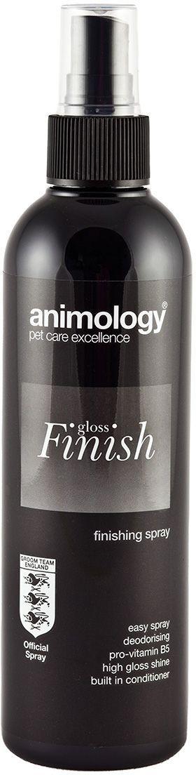 Блеск-спрей Animology Gloss Finish Finishing, для закрепления формы и объема, для всех типов шерсти, 250 мл0120710Animology Gloss Finish (Глосс Финиш) - лёгкий спрей для заключительной обработки шерсти.Подходит для всех типов шерсти.Обеспечивает дополнительный блеск шерсти по окончании работы грумера.Позволяет получить от шерсти максимум возможного лоска и позволяет собаке выглядеть наилучшим образом.Экономичен.Примение: Достаточно лёгкого распыления при заключительной укладке шерсти.Не оставляет липких или жирных следов на шерсти. Обладает фирменным ароматом Animology