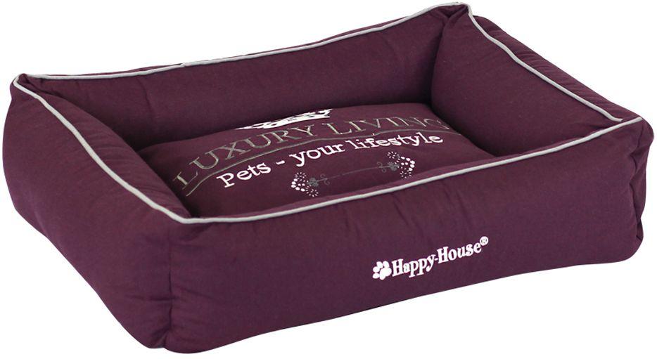 Лежак для животных Happy House Luxsury Living, цвет: пурпурный, 55 х 45 х 12 см0120710Мягкий и уютный лежак Happy House Luxsury Living обязательно понравится вашему питомцу. Он выполнен из хлопка, а наполнитель - полиэстер. Такой материал не теряет своей формы долгое время. Борта и съемный матрас обеспечат вашему любимцу уют.Мягкий лежак станет излюбленным местом вашего питомца, подарит спокойный и комфортный сон, а также убережет вашу мебель от многочисленной шерсти.