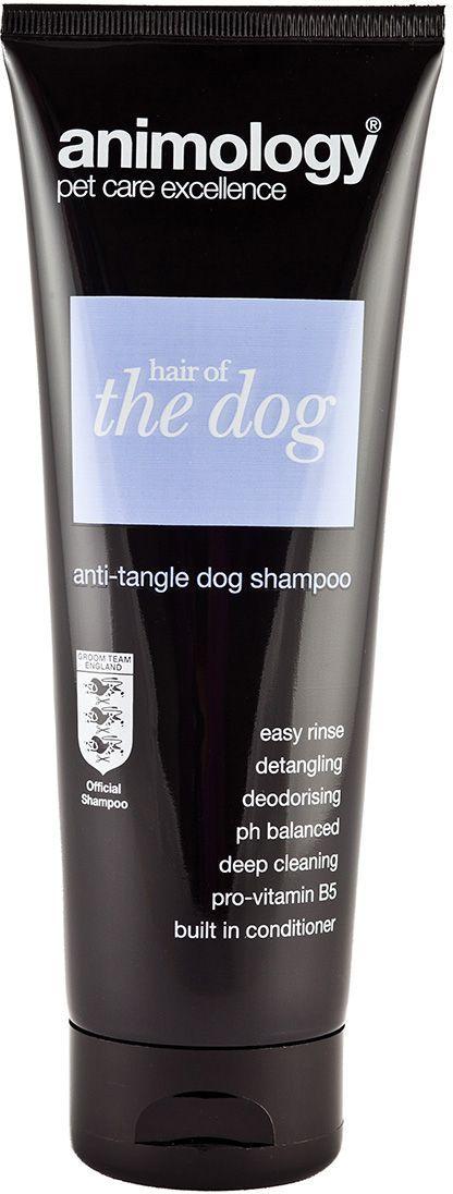 Шампунь-кондиционер для собак Animology Hair Of The Dog, концентрированный, от колтунов, 250 мл41420Шампунь-кондиционер Animology Hair Of The Dog обогащён витаминами. Шампунь рекомендован для борьбы с колтунами. Придает шерсти эластичность, устраняет сухость и способствует поддержанию pН баланса кожного покрова. Оживляет шерсть, способствует объёму, питает и дезинфицирует. Способ применения:Намочите шерсть животного теплой водой, нанесите разведённый в воде шампунь-кондиционер, вспеньте его, тщательно ополосните и высушите. При необходимости повторите процедуру ещё раз. Рекомендовано разбавлять водой в пропорции 1:15.