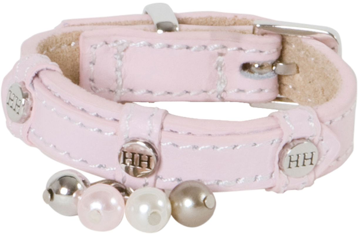 Ошейник для собак Happy House Beads, цвет: розовый, обхват шеи 18-24 см, ширина 1,5 см. Размер XXSYL80Ошейник для собак Happy House Beads станет изысканным аксессуаром для вашей собачки. Ошейник выполнен из натуральной гладкой и замшевой кожи. Он украшен клепками, контрастной строчкой и подвесками. Размер ошейника регулируется при помощи металлической пряжки. Имеется металлическое кольцо для крепления поводка. Клеевой слой, сверхпрочные нити, крепкие металлические элементы делают ошейник надежным и долговечным. Изделие отличается высоким качеством, удобством и универсальностью.Ваша собака тоже хочет выглядеть стильно! Такой модный ошейник станет для питомца отличным украшением и выделит его среди остальных животных. Обхват шеи: 18-24 см. Ширина ошейника: 1,5 см.