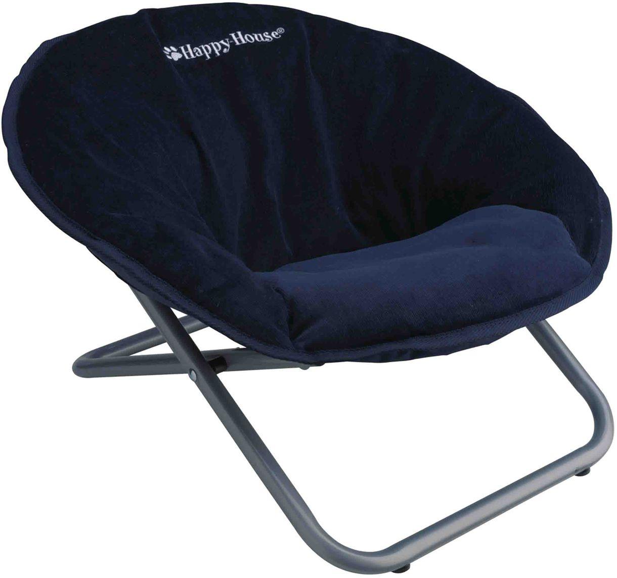 Стул для животных Happy House New Classic, цвет: синий, 55 х 51 х 36 смDM-160283Стул для животных Happy House New Classic - прекрасный большой стул для кошки или собаки. Стул имеет металлический каркас и сиденье, выполненное из мягкого вельвета с наполнителем из полиэстера. Сиденье легко снимается с каркаса. Его можно стирать при температуре 30°С. Максимальная вместимость стула - 15 кг.На таком стуле вашему любимцу будет мягко и тепло. Он подарит вашему питомцу ощущение уюта и уединенности.