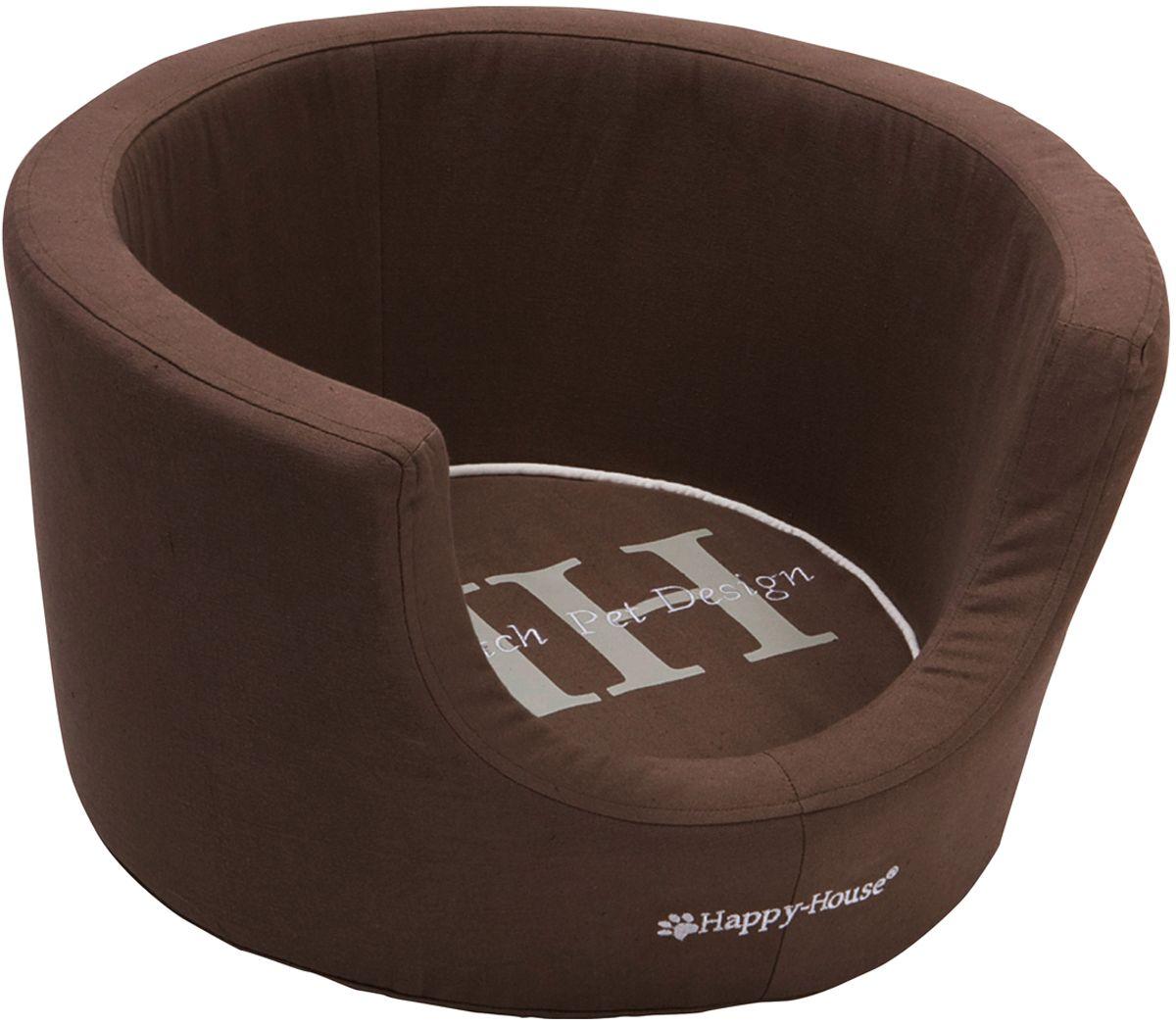Лежак для животных Happy House Canvas Comfort, цвет: коричневый, 43 х 43 х 25 см