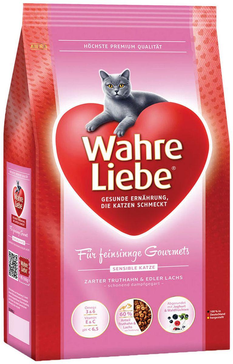 Корм сухой Wahre Liebe Sensible, для привередливых и склонных к аллергии кошек, 4 кг0120710Wahre Liebe - это корм, произведенный в Германии, он обладает превосходным вкусом и ароматом, которые не оставят равнодушной даже самую привередливую кошку. Ведущий ветеринарный врач завода Mera учел все потребности организма кошки, разработал идеальную формулу корма и назвал ее - Wahre Liebe, что в переводе с немецкого Истинная любовь.Wahre Liebe - не только подарит любовь и заботу питомцу, но и обеспечит его здоровьем и долголетием на всю жизнь.Корм Wahre Liebe это:- 68% свежего мяса,- устойчивая кишечная микрофлора и отличное пищеварение,- профилактика волосяных комочков,- поддержка иммунитета на клеточном уровне,- сбалансированное и полнорационное питание.Wahre Liebe - это истинная любовь для кошек с характером. Это истинно немецкое качество.Состав: рис (36 %), мука из мяса индейки (20 %), мука из мяса лосося (10%),животный жир, куриный белок (гидролизованный),кукурузный глютен, (птица, говядина), свекольная стружка (3,5 %,обессахаренная), целлюлозная клетчатка (2,5 %), масло льняных семян (2,0 %), масло лосося (1,4%), подсолнечное масло (0,9%), хлорид натрия, пивные дрожжи (сухие), высушенное яйцо, хлорид калия, порошок цикория ( 0,3%, богатый инулином),порошок из йогурта (0,2 %), порошок из лесных плодов (0,1 %), дрожжевой экстракт (0,04 %, богат бета-глюканами), порошок из цветов бархатцев (0,03%, богат лютеином), порошок из Юкки Шидигера. Товар сертифицирован.