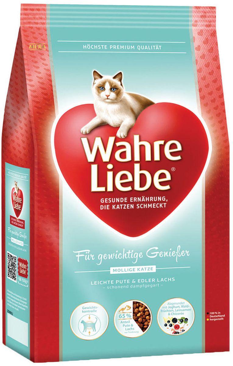 Корм сухой Wahre Liebe Mollige, для кошек с избыточным весом, стерилизованных и кастрированных, 1,5 кг0120710Wahre Liebe - это корм, произведенный в Германии, он обладает превосходным вкусом и ароматом, которые не оставят равнодушной даже самую привередливую кошку. Ведущий ветеринарный врач завода Mera учел все потребности организма кошки, разработал идеальную формулу корма и назвал ее - Wahre Liebe, что в переводе с немецкого Истинная любовь.Wahre Liebe - не только подарит любовь и заботу питомцу, но и обеспечит его здоровьем и долголетием на всю жизнь.Корм Wahre Liebe это:- 68% свежего мяса,- устойчивая кишечная микрофлора и отличное пищеварение,- профилактика волосяных комочков,- поддержка иммунитета на клеточном уровне,- сбалансированное и полнорационное питание.Wahre Liebe - это истинная любовь для кошек с характером. Это истинно немецкое качество.Состав: мука из мяса птицы (28% курица, индейка 4%), кукуруза, кукурузный глютен, ячмень, целлюлозная клетчатка (5%), мука из мяса лосося (4%), рис (4%), свекловичная стружка(3%, обессахаренная), куриный белок (гидролизованный), животный жир (птица, говядина), масло льняных семян (2%), печень домашней птицы (1%, высушенная), хлорид натрия, масло лосося (0,6%), подсолнечное масло (0,4%), пивные дрожжи (сухие), высушенное яйцо, порошок цикория ( 0,3%, богатый инулином), порошок из йогурта (0,2%), хлорид калия, порошок из лесных плодов (0,1%),порошок из Юкки Шидигера.Товар сертифицирован.